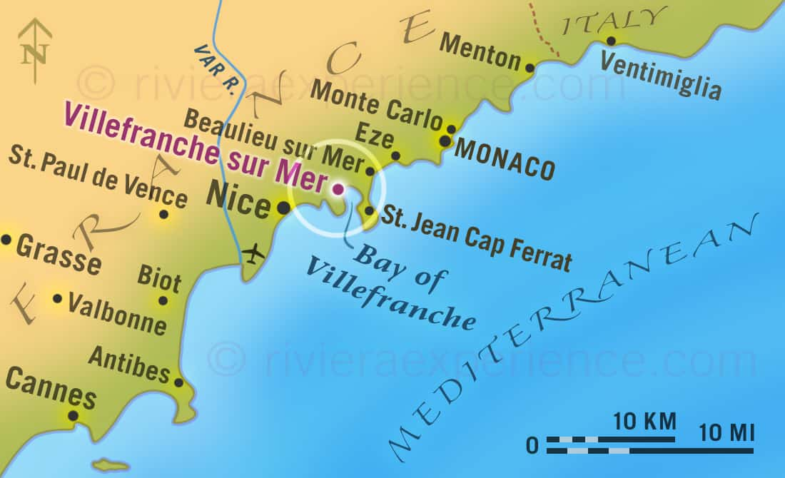 Map of the South of France